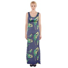 Canaries Budgie Pattern Bird Animals Cute Maxi Thigh Split Dress