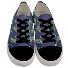 Canaries Budgie Pattern Bird Animals Cute Men s Low Top Canvas Sneakers