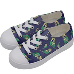 Canaries Budgie Pattern Bird Animals Cute Kids  Low Top Canvas Sneakers by Mariart