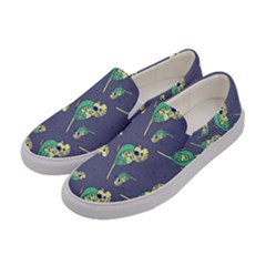 Canaries Budgie Pattern Bird Animals Cute Women s Canvas Slip Ons by Mariart
