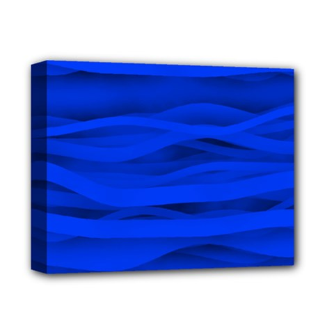 Dark Blue Stripes Seamless Deluxe Canvas 14  X 11  by Mariart