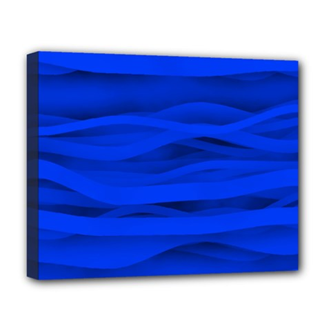 Dark Blue Stripes Seamless Deluxe Canvas 20  X 16   by Mariart