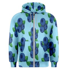 Fruit Nordic Grapes Green Blue Men s Zipper Hoodie by Mariart