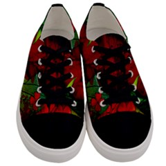 Flower Power, Wonderful Flowers, Vintage Design Men s Low Top Canvas Sneakers