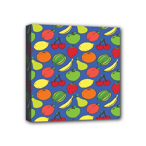 Fruit Melon Cherry Apple Strawberry Banana Apple Mini Canvas 4  X 4  by Mariart