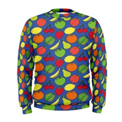 Fruit Melon Cherry Apple Strawberry Banana Apple Men s Sweatshirt by Mariart