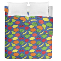 Fruit Melon Cherry Apple Strawberry Banana Apple Duvet Cover Double Side (queen Size) by Mariart