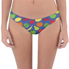 Fruit Melon Cherry Apple Strawberry Banana Apple Reversible Hipster Bikini Bottoms by Mariart