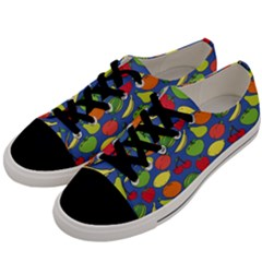 Fruit Melon Cherry Apple Strawberry Banana Apple Men s Low Top Canvas Sneakers by Mariart