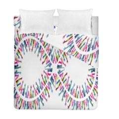 Free Symbol Hands Duvet Cover Double Side (full/ Double Size) by Mariart