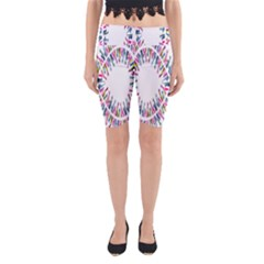 Free Symbol Hands Yoga Cropped Leggings by Mariart