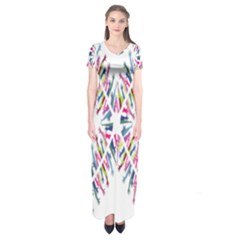 Free Symbol Hands Short Sleeve Maxi Dress by Mariart