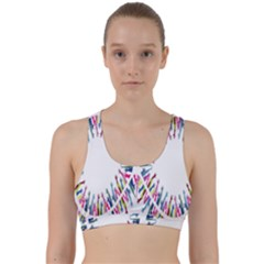 Free Symbol Hands Back Weave Sports Bra