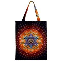 Cosmik Triangle Space Rainbow Light Blue Gold Orange Zipper Classic Tote Bag by Mariart
