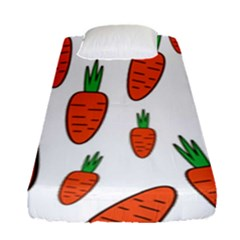 Fruit Vegetable Carrots Fitted Sheet (single Size) by Mariart