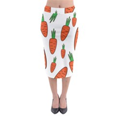 Fruit Vegetable Carrots Midi Pencil Skirt by Mariart