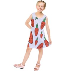 Fruit Vegetable Carrots Kids  Tunic Dress by Mariart