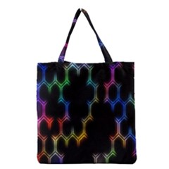 Grid Light Colorful Bright Ultra Grocery Tote Bag by Mariart