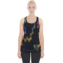 Grid Light Colorful Bright Ultra Piece Up Tank Top