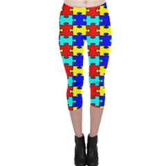 Game Puzzle Capri Leggings