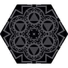 Kali Yantra Inverted Mini Folding Umbrellas by Mariart