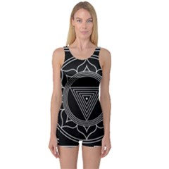 Kali Yantra Inverted One Piece Boyleg Swimsuit by Mariart