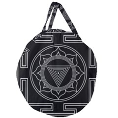 Kali Yantra Inverted Giant Round Zipper Tote