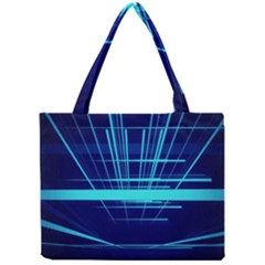 Grid Structure Blue Line Mini Tote Bag by Mariart