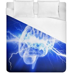 Lightning Brain Blue Duvet Cover (california King Size) by Mariart