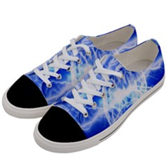 Lightning Brain Blue Women s Low Top Canvas Sneakers by Mariart