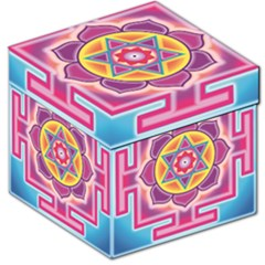 Kali Yantra Inverted Rainbow Storage Stool 12   by Mariart