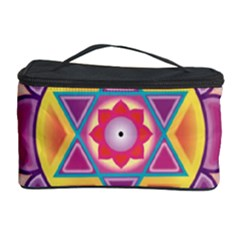 Kali Yantra Inverted Rainbow Cosmetic Storage Case by Mariart