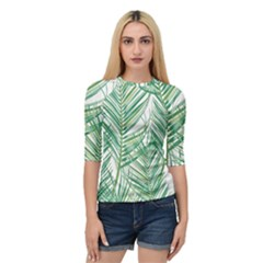 Jungle Fever Green Leaves Quarter Sleeve Raglan Tee by Mariart
