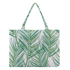 Jungle Fever Green Leaves Medium Tote Bag by Mariart