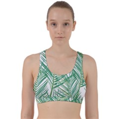 Jungle Fever Green Leaves Back Weave Sports Bra