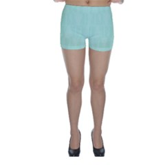 Line Blue Chevron Skinny Shorts by Mariart