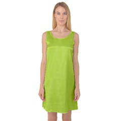Line Green Sleeveless Satin Nightdress by Mariart