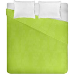 Line Green Duvet Cover Double Side (california King Size) by Mariart