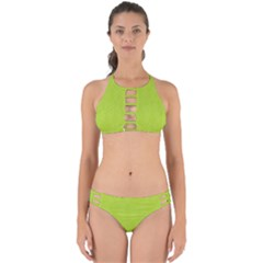 Line Green Perfectly Cut Out Bikini Set