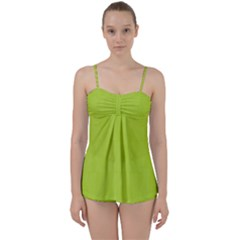 Line Green Babydoll Tankini Set by Mariart