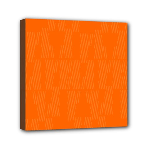 Line Orange Mini Canvas 6  X 6  by Mariart