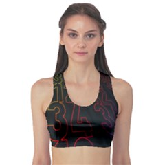 Neon Number Sports Bra by Mariart