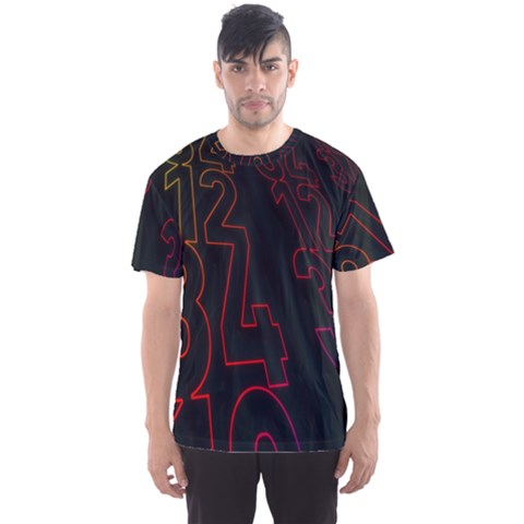 Neon Number Men s Sports Mesh Tee by Mariart