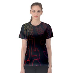 Neon Number Women s Sport Mesh Tee by Mariart