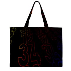 Neon Number Mini Tote Bag by Mariart