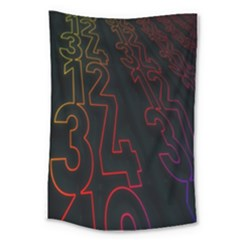 Neon Number Large Tapestry