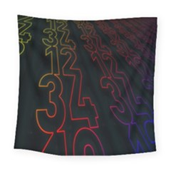Neon Number Square Tapestry (large) by Mariart