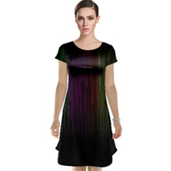 Line Rain Rainbow Light Stripes Lines Flow Cap Sleeve Nightdress