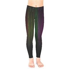 Line Rain Rainbow Light Stripes Lines Flow Kids  Legging
