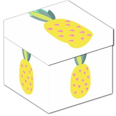 Pineapple Fruite Yellow Triangle Pink Storage Stool 12   by Mariart